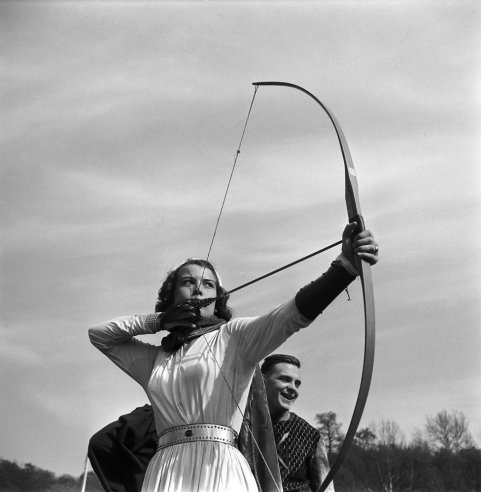 Not published in LIFE. King Arthur Tournament, Bethany College, West Virginia, 1952.
