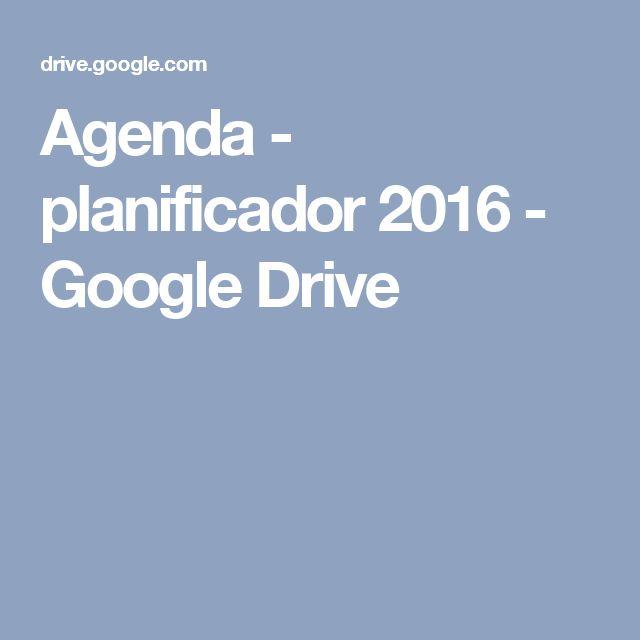 Agenda - planificador 2016 - Google Drive