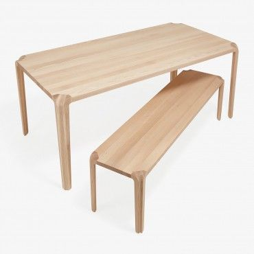 Cadence Rectangle Dining Table White Ash