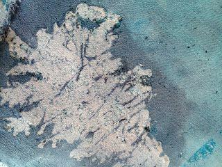 flour paste resist pine tree and procion dye by clevelandgirlie.blogspot.com