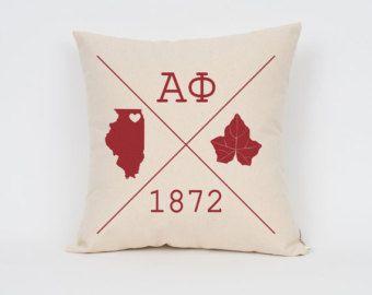 Alpha Phi Icons Custom Pillow / ΑΦ / Sorority Pillow / Greek Letter Pillow / Sorority Gift / Big Little Gift/ Bid Day Gift / Initiation Gift