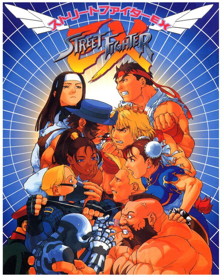 """winnerstaysloserpays:  """" Street Fighter EX flyer by Capcom artist Edayan  """""""