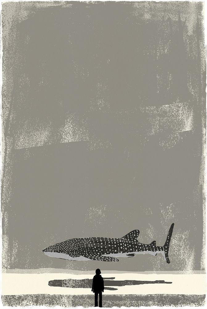 Tatsuro Kiuchi @kiuchitatsuro Illustration for The ocean, stars and a half moon, a short novel by Hiroto Kawabata.