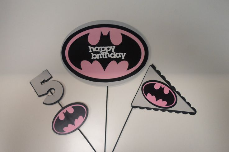 Batgirl Party Centerpiece Sticks - Gotham Party - Batman - Batgirl Party…