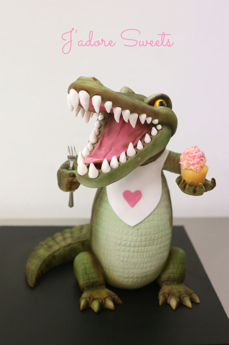 This sculpted croc was created in a workshop held by...