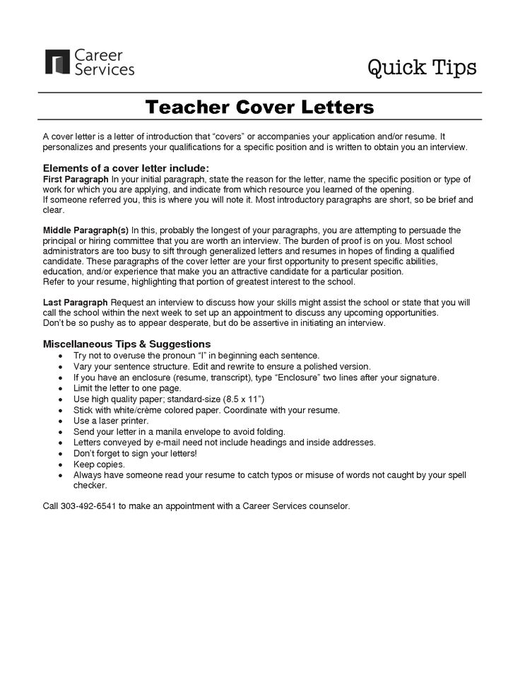 resumes and letters