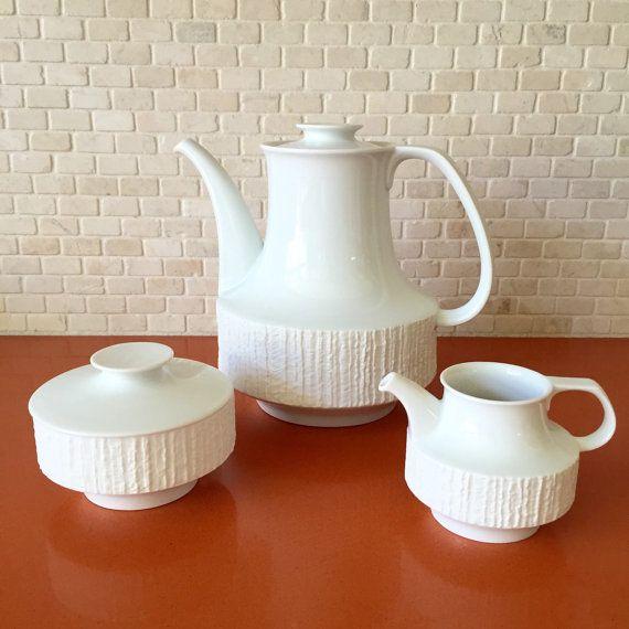 Vintage Modernist Thomas Arcta White Coffee by greencycledesignLA