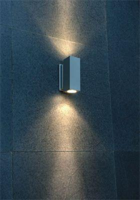 LED-fasadbelysning vägglampa 2x3W