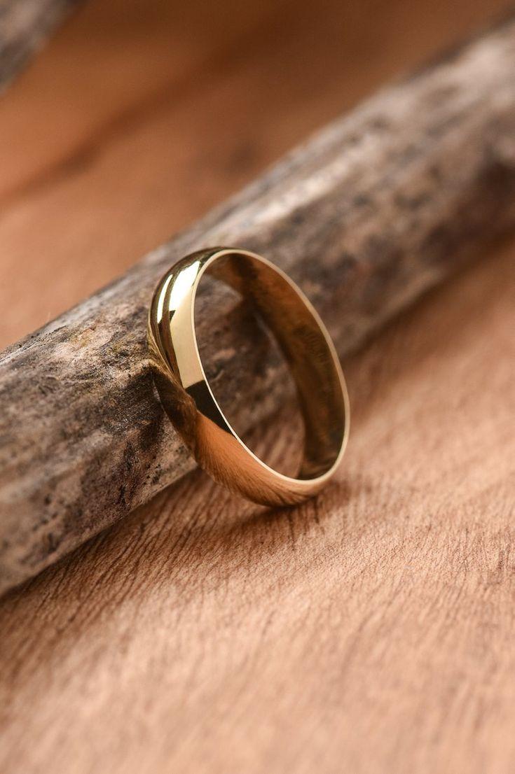 4 mm Gold Eheringe sind 14 Karat Solid GOLD (nicht gefüllt oder plattiert) …   – Amazing Dress & Accessories