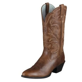 Ariat. The best cowboy boot! They are incredibly comfortable and look cute with everything!