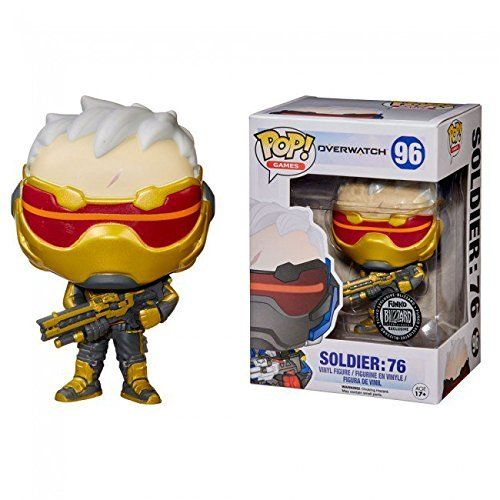 Funko Pop! Games Overwatch Soldier 76 Gold BlizzCon Blizard Exclusive //Price: $116.99 & FREE Shipping //     #hashtag3