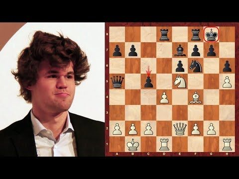 View a Youtube Chess Video: Magnus Carlsen Top Eight Amazing Chess Sacrifices (up until 2014)
