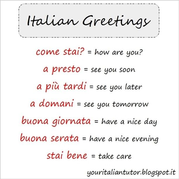 38 Best Images About Italian Vocabulary On Pinterest