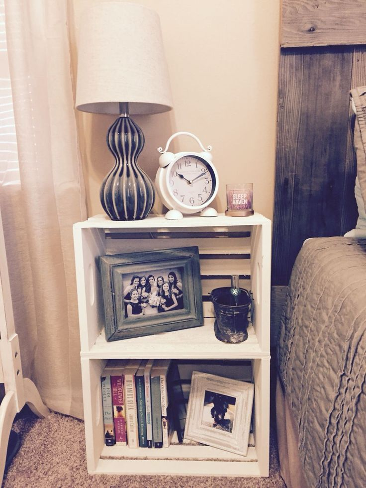 Best 25+ Diy nightstand ideas on Pinterest | Crate nightstand ...
