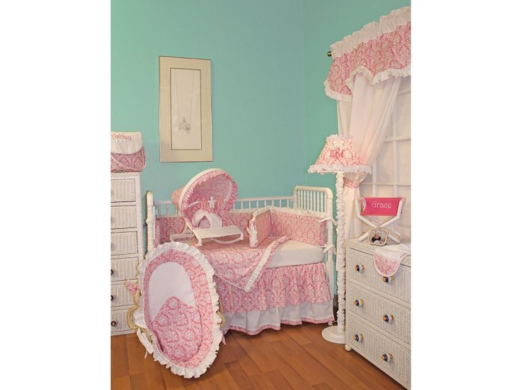 Marcella Pink Girl Baby Bedding | Sweet Peaches Bedding