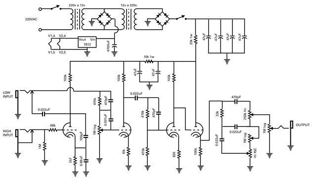 pr u00e9 amplificador valvulado