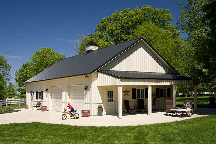 631 best pole barn homes images on pinterest metal for Metal buildings made into houses