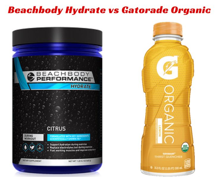 Beachbody Hydrate vs Gatorade and other Sports Drinks