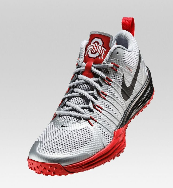 Nike Lunar TR1 'Ohio State Buckeyes' Metallic Silver, University Red, White, and Black