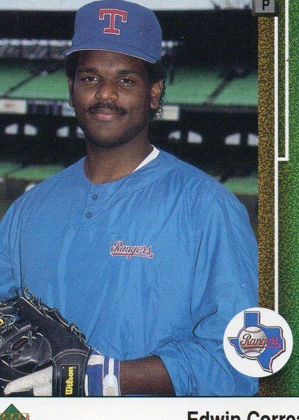 1989 Upper Deck Baseball Card Rangers Edwin Correa