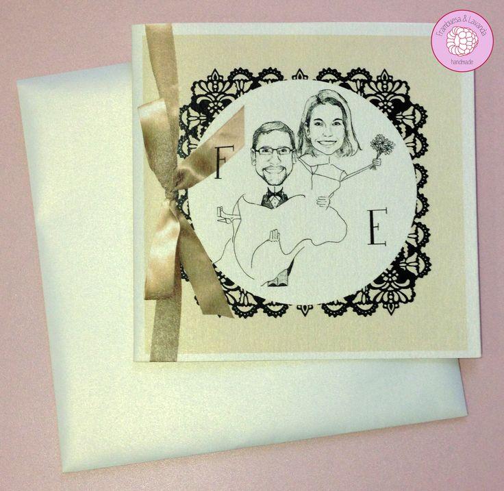 #invitación #boda #personalizada #diseño #handmade #retratos #eventos #wedding #design