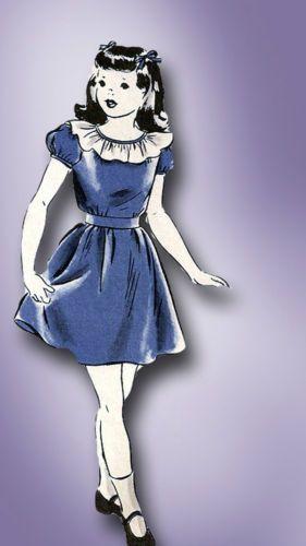 1940s Simple WWII Hollywood Tot Frock Pattern Sz 6 | eBay