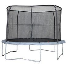 12Ft Trampoline With Enclosure + Charcoal Mat