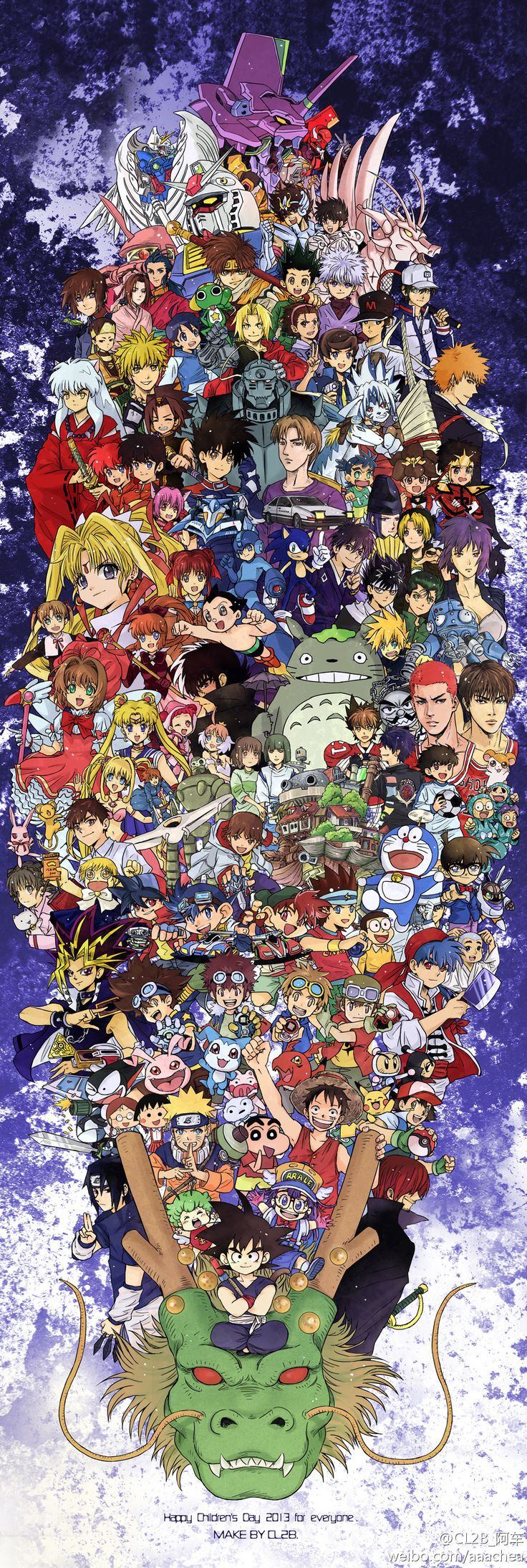 Cross-Over- Zerochan | anime | air gear, astro boy, beyblade, sailor moon, black jack, shin chan, digimon, detective conan, doraemon, dr. slump, dragon ball, fullmetal alchemist, getbackers, hamtaro, inuyasha, one piece, prince of tennis, princess tutu, ranma, yu gi oh, slam dunk, totoro, naruto, bleach, spirited away, pokemon mega man