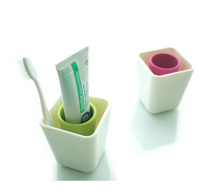 Simple Toothbrush Holder  -  bathroom, toothbrush and toothpaste holder.  simple and roomy compared to most, will fit larger, wider toothbrush.   lj