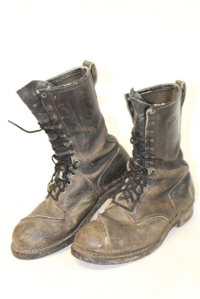 Vintage Golden Retriever Mens 10 Distressed Leather Steel Toe