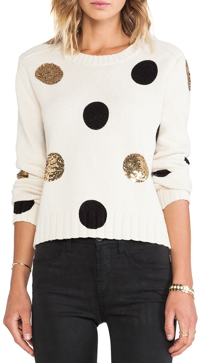 Sequined dot sweater