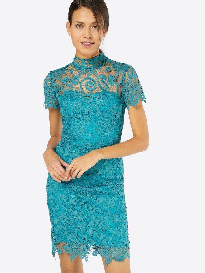 Chi Chi London Cocktailkleid Spitze Blau | Kleider mode ...