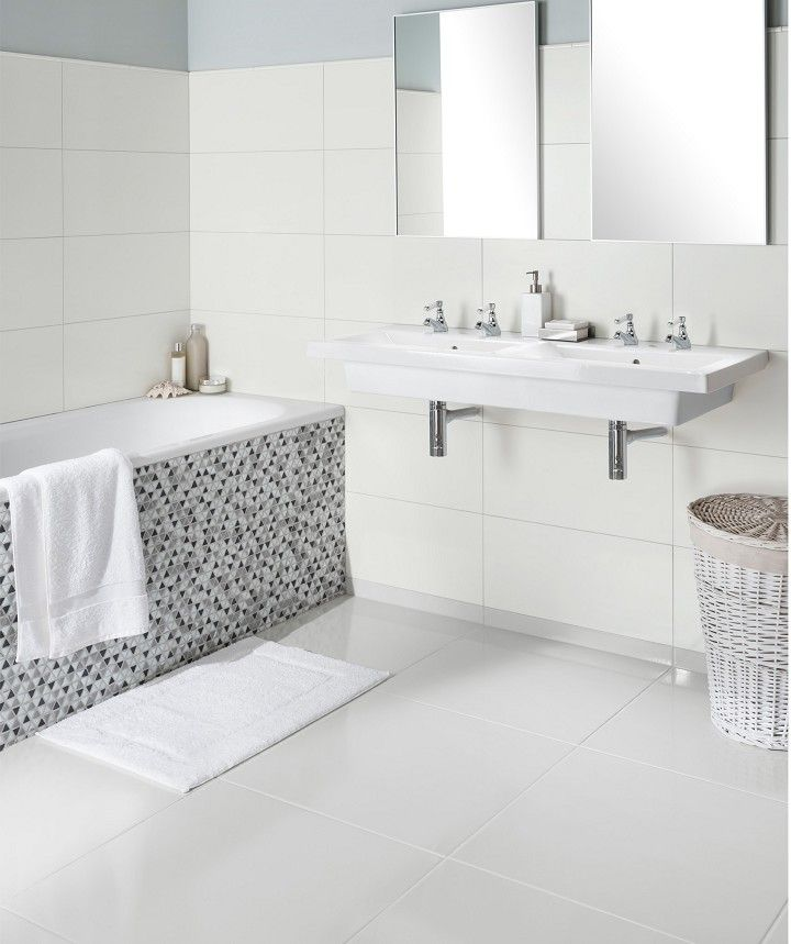 Timeless Neutrals White Matt Tile 30cm X 60cm Timeless Bathroom Tile Bathroom White Tile Bathroom Walls