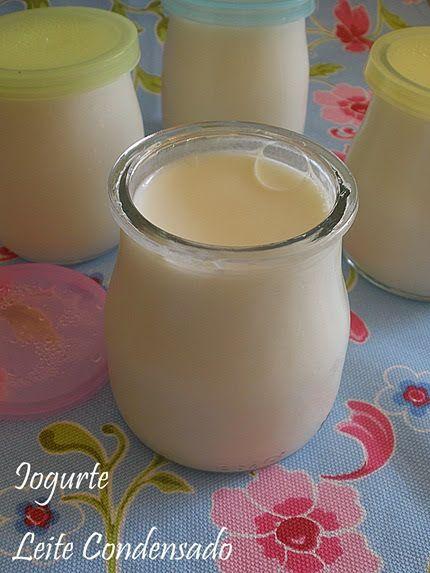 Mais um iogurte bem guloso…ou sobremesa…   Este iogurte é dos mais sólidos que já fiz, o leite condensado torna-o bem cremoso e dá-lh...