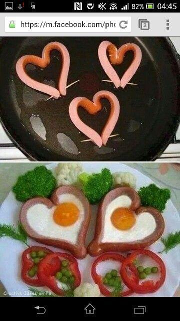 Pølser og æg