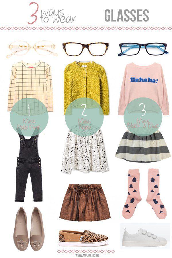3 ways to wear... GLASSES. #girls #doctorfashion #moodkids http://www.moodkids.nl/trend/fashion-trend/2015/10/05/3-manieren-om-kinderbrillen-te-dragen