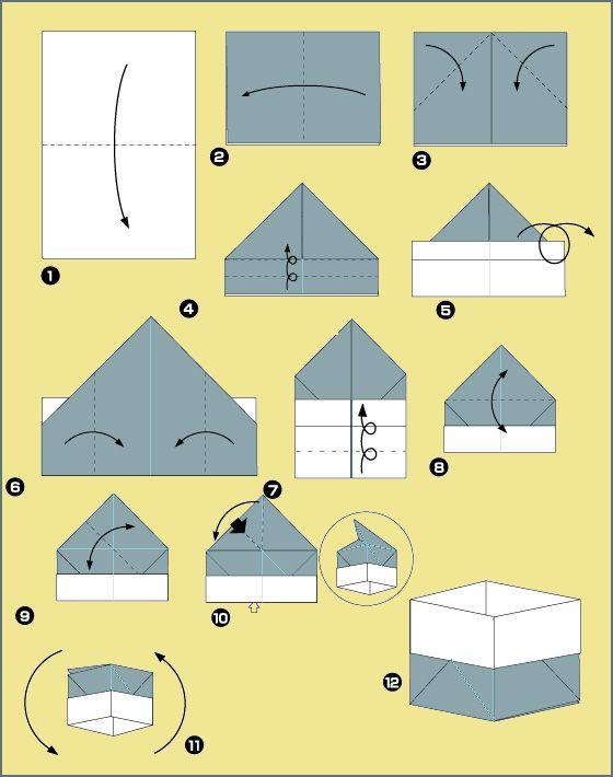 Полгода, как сделать оригами коробочку картинки