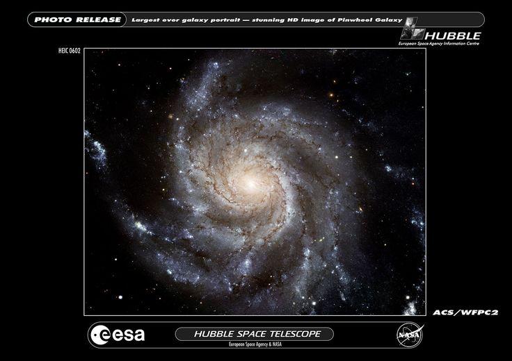 Largest ever galaxy portrait - stunning HD image of Pinwheel Galaxy | ESA/Hubble