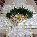 Úžitkový textil - Zlaté ornamenty na smotanovej - prestieranie 25x35 - 7097609_