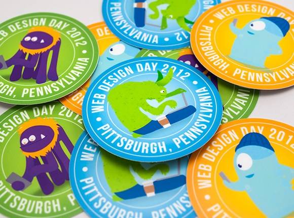 Web design day stickers