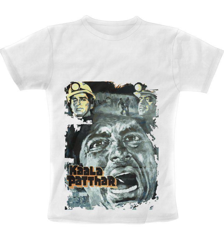 Kaala Patthar Retro Painted Poster print T-Shirt