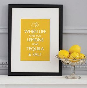 'When Life Gives You Lemons…' Print - birthday gifts
