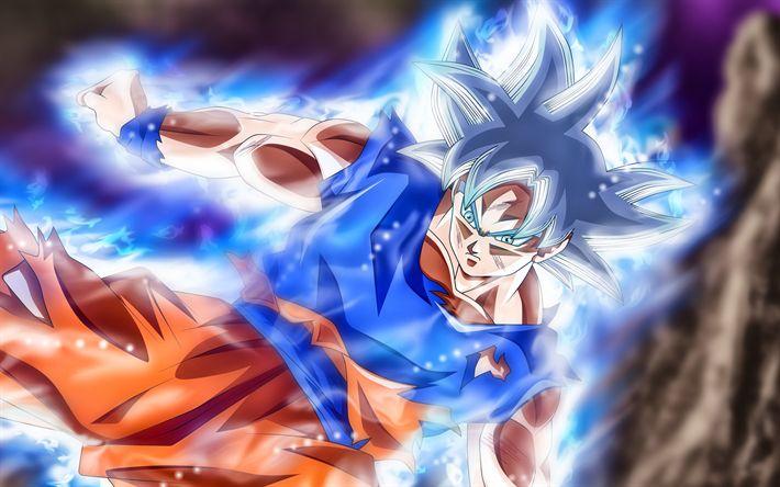 Download wallpapers 4k, Black Goku, fighter, DBS, manga, Goku, magic, Dragon Ball Super