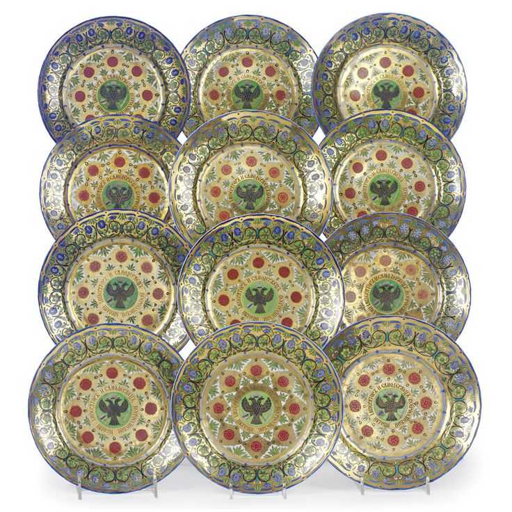 set of twelve russian porcelain dessert plates from the kremlin service imperial porcelain manufactory  sc 1 st  Pinterest & 97 best Rare Russian porcelain images on Pinterest | China porcelain ...