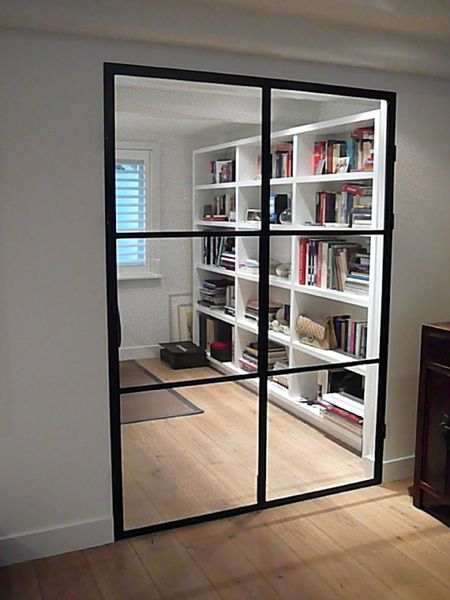 Like the shelves and the great glass window for an interior door.