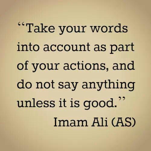 Words & Actions- Imam Ali ( ع )