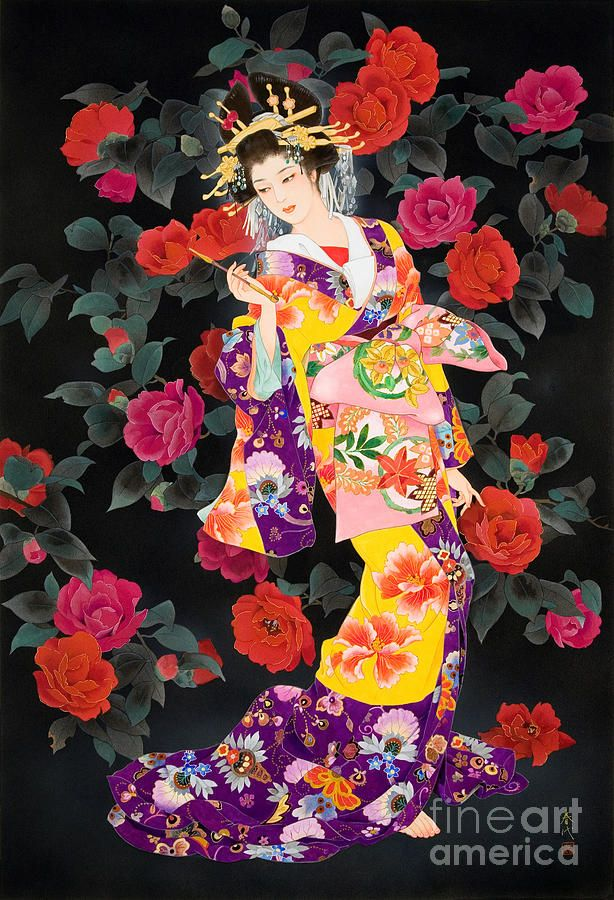 Tsubaki Digital Art by Haruyo Morita