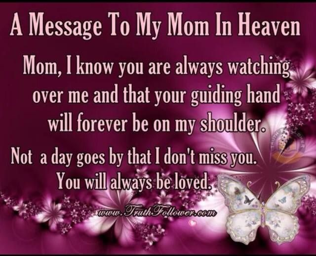 A Message To My Mom In Heaven Happy Mother S Day Mom In Heaven Birthday Message For Mom Mom Birthday Quotes