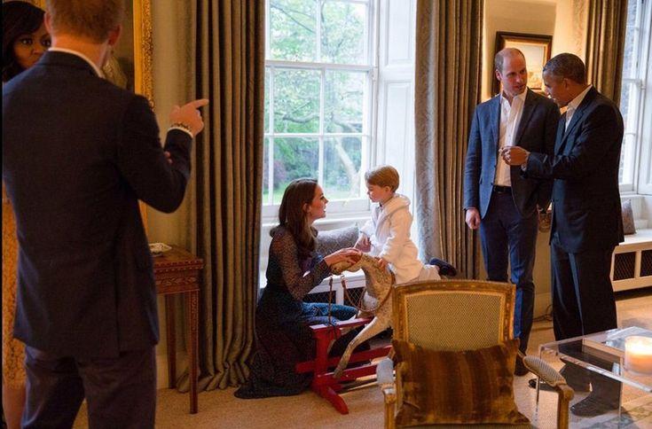 Kate Middleton e príncipe William recebem Michelle e Barack Obama no Reino Unido
