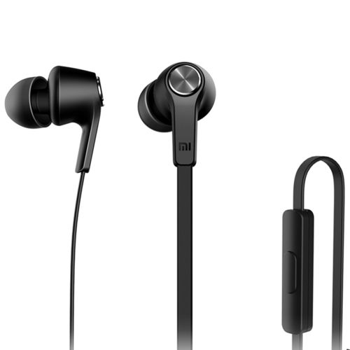 [$5.67] Original Xiaomi Basic Edition Piston In-Ear Stereo Bass Earphone With Remote and Mic for iPhone, iPad, iPod, Xiaomi, Samsung, Huawei and Other Android Smartphones(Black)